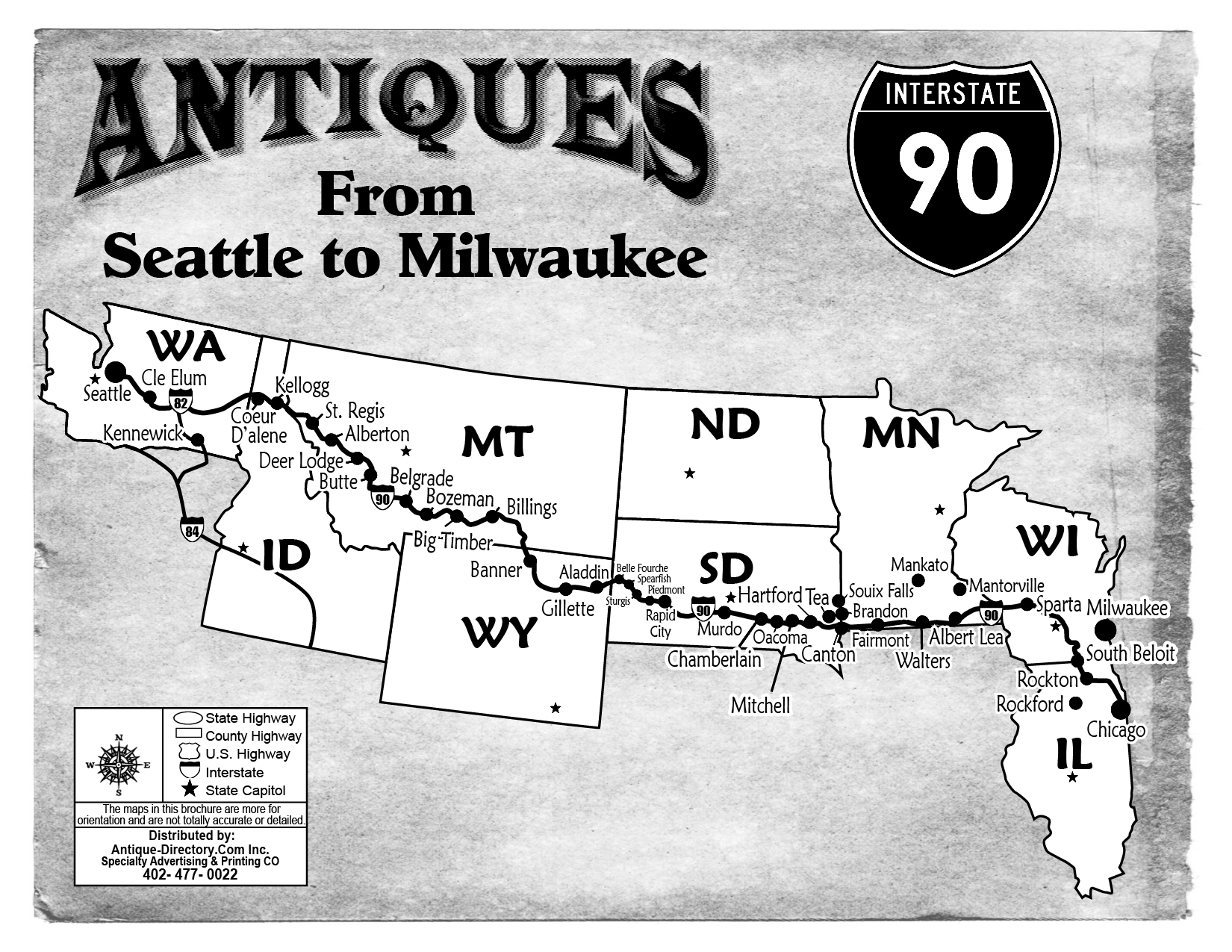 WA Brochures on map of i 290 chicago, map of interstate 88 chicago, map of interstate 94 chicago, map of i 55 chicago,